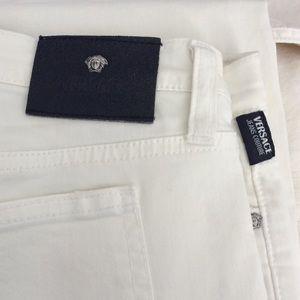 Versace white pants New, super soft 28